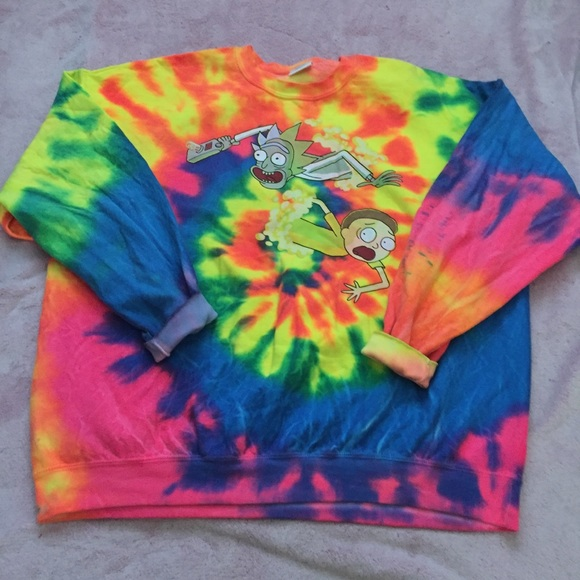 Rick And Morty Sweater Tie Dye